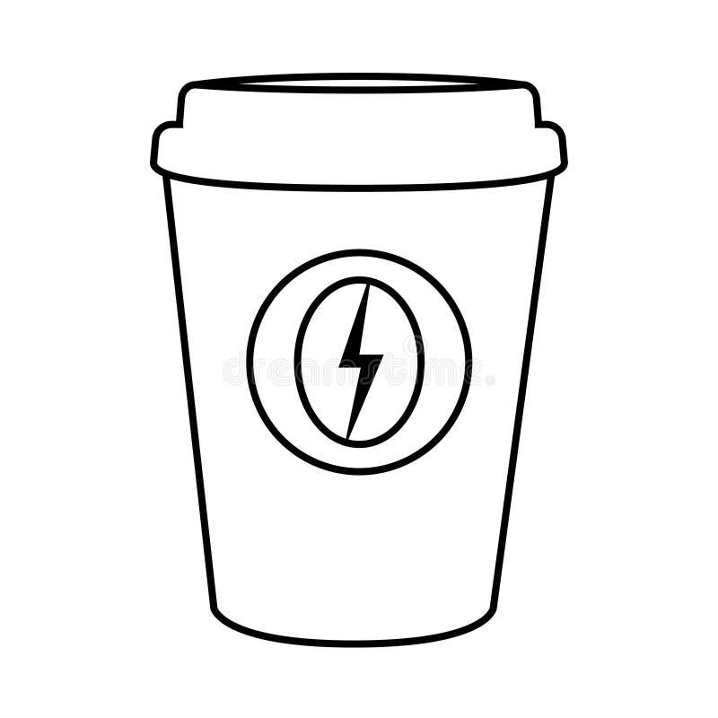 Symbol för kaffepapperskopp på vit bakgrund vektor illustrationer