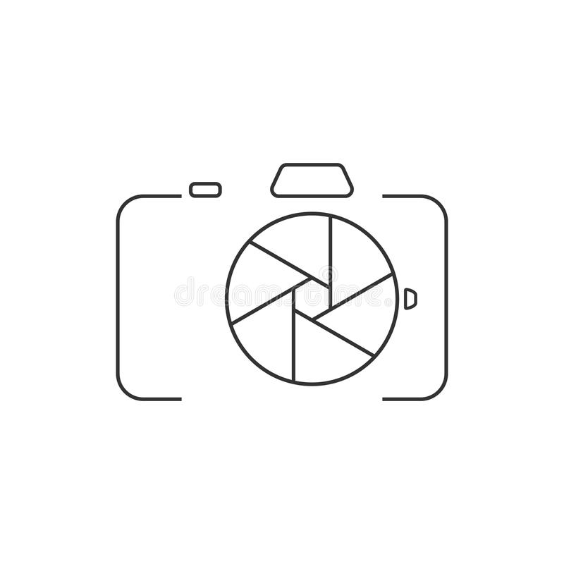 Symbol för kamera DSLR royaltyfri illustrationer
