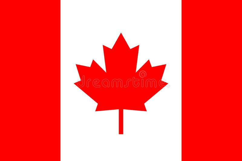 Symbol för Kanada flaggavektor rullad white för bakgrundssymbolstraktor rengöringsduk stock illustrationer