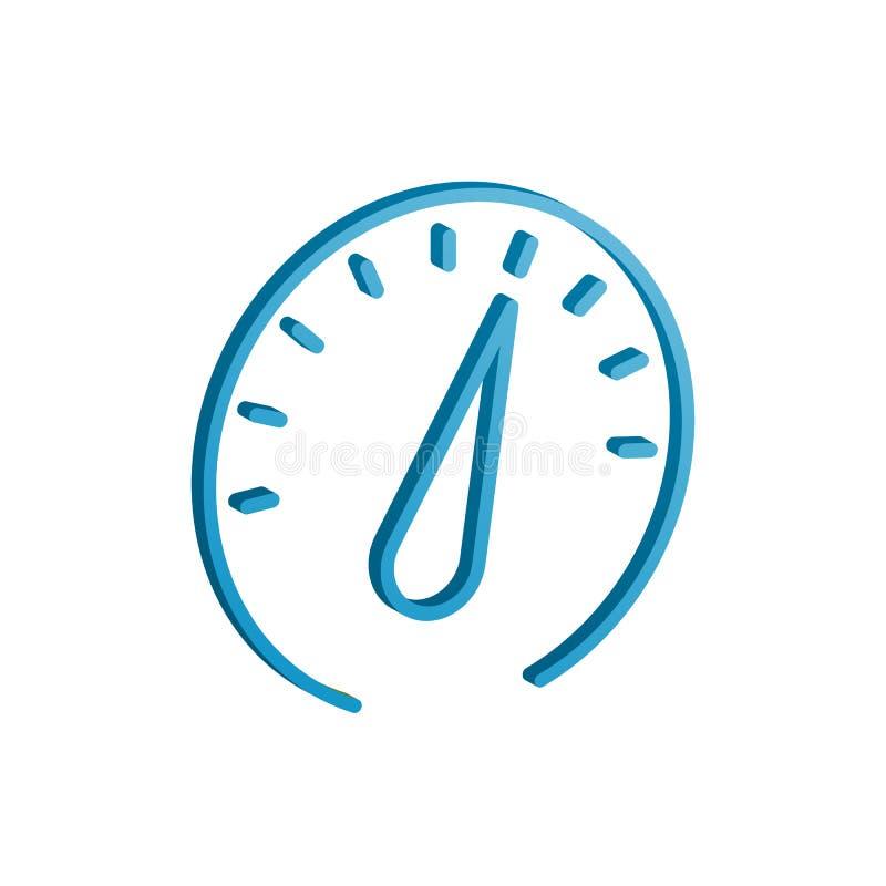 symbol för kapacitet 3d med lutning vektordesignillustration stock illustrationer