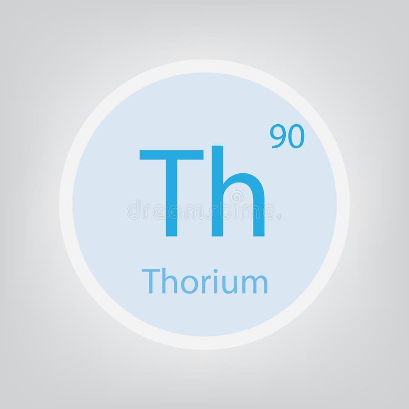 Symbol för kemisk beståndsdel för ThoriumTh vektor illustrationer