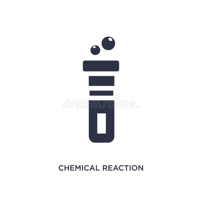symbol för kemisk reaktion på vit bakgrund Enkel beståndsdelillustration från kemibegrepp royaltyfri illustrationer