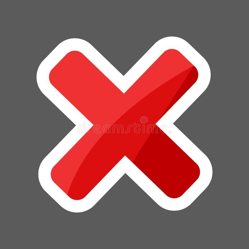 Symbol för klistermärke för arg förbudvektor kulör Lager grupperade fo vektor illustrationer