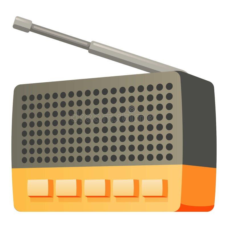 Symbol för knappantennradio, tecknad filmstil stock illustrationer