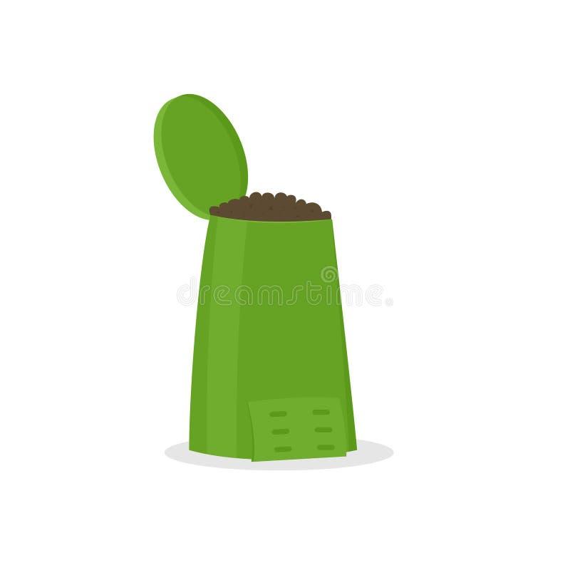 Symbol för kompostfack vektor illustrationer