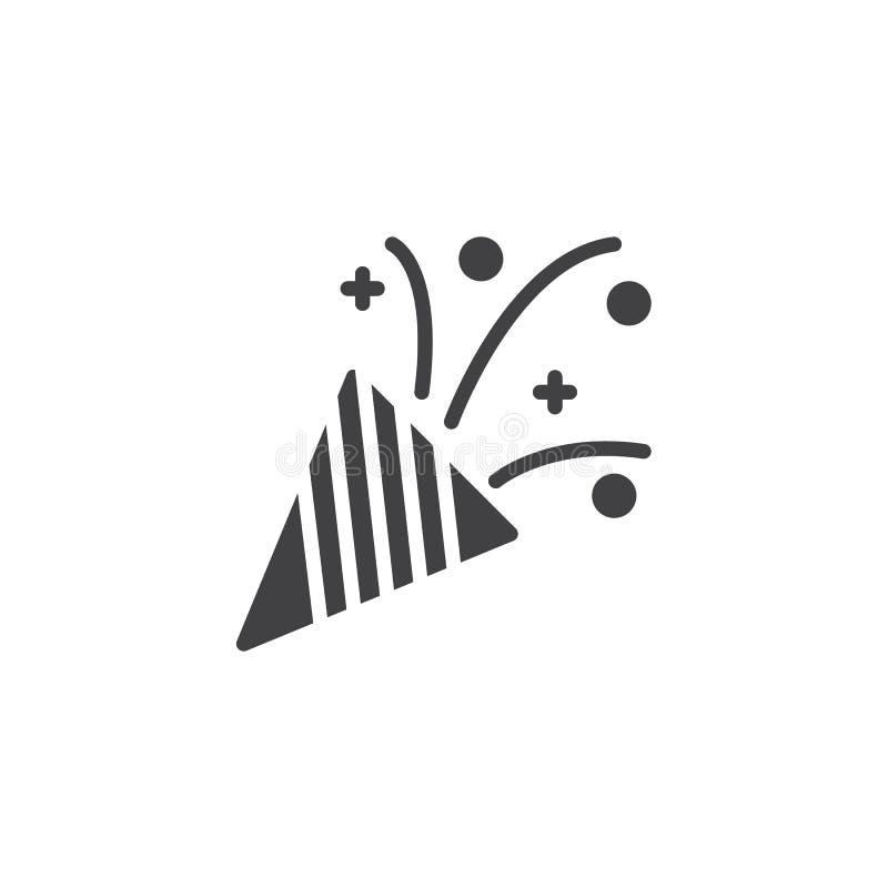Symbol för konfettipopcornapparatvektor royaltyfri illustrationer