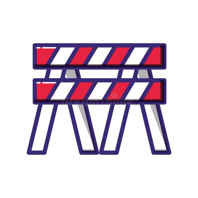 Symbol för konstruktionsbarrikadstaket vektor illustrationer