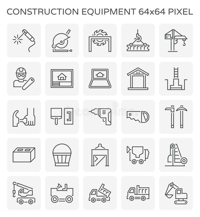 Symbol för konstruktionsutrustning royaltyfri illustrationer