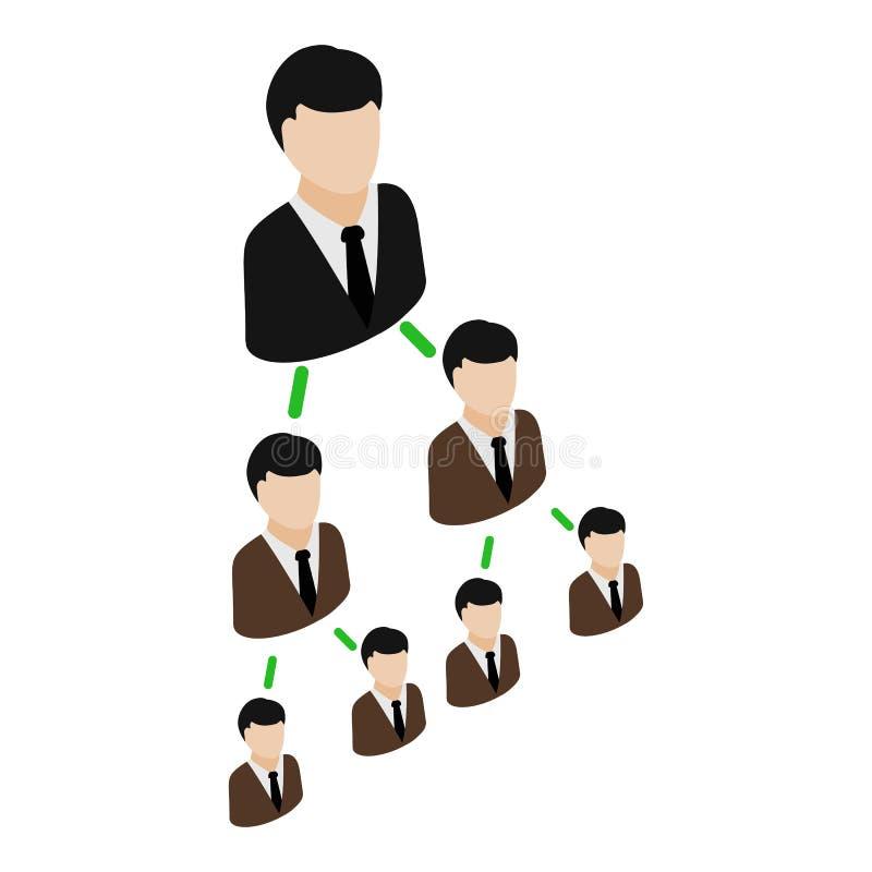 Symbol för kontorshierarkipyramid, isometrisk stil 3d royaltyfri illustrationer