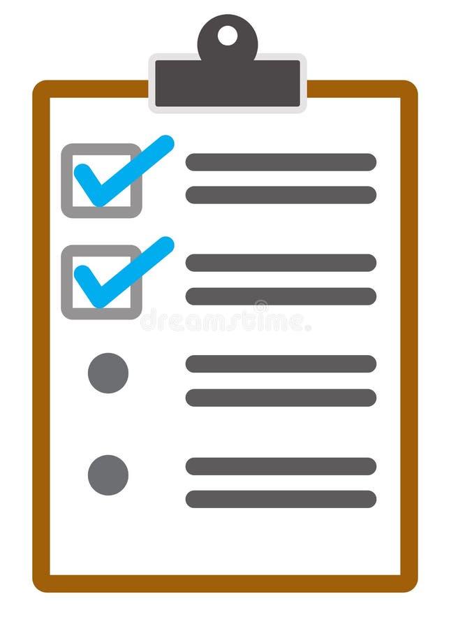 Symbol för kontrollistasidavektor på vit bakgrund kontrollistasymbol f?r din webbplatsdesign, logo, app, UI Plan stil clipboard stock illustrationer