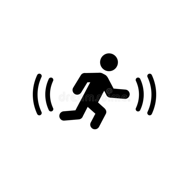 Symbol för kontur för rörelseavkännare stock illustrationer