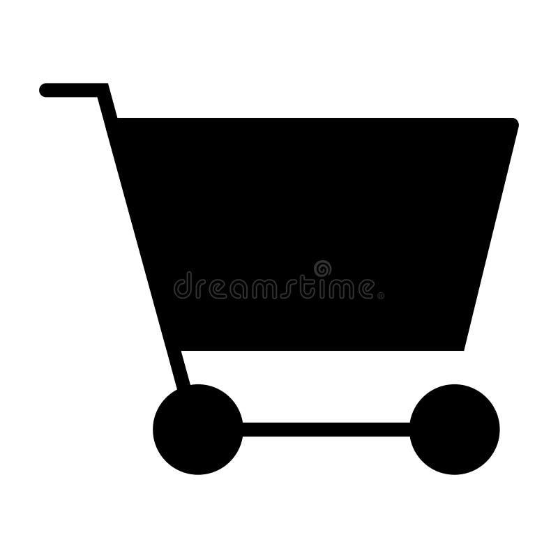 Symbol 48x48 för kontur för vektor för PIXEL för shoppingvagn perfekt Enkel minsta Pictogram stock illustrationer