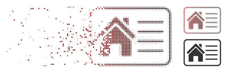 Symbol för kort för information om hus för upplöst PIXEL rastrerad royaltyfri illustrationer