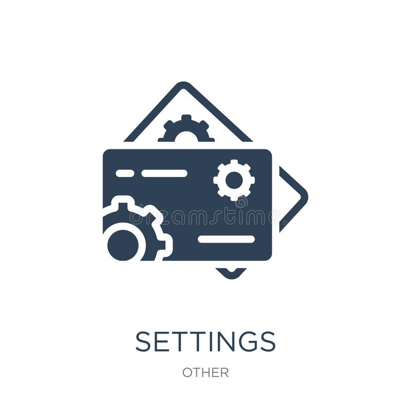 symbol för kort för inställningsabstrakt begreppaffär i moderiktig designstil symbol för kort för inställningsabstrakt begreppaff stock illustrationer