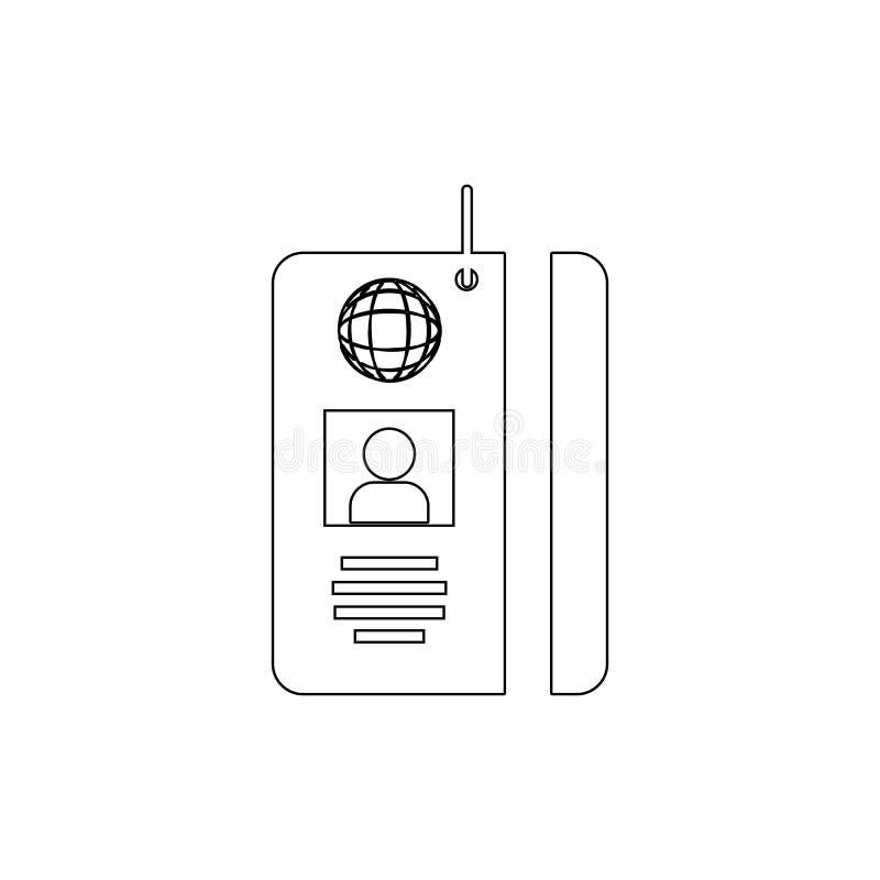 Symbol för kort för legitimation för presspasserande Beståndsdel av massmedia för mobil begrepps- och rengöringsdukappsillustrati vektor illustrationer