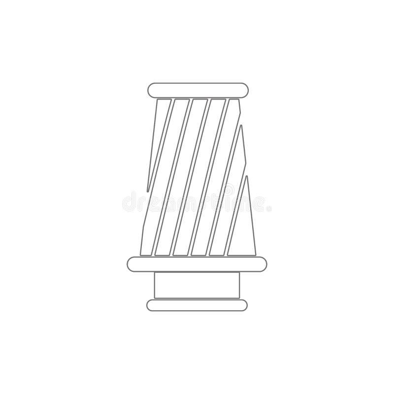 symbol för kottefilteröversikt Best?ndsdelar av symbolen f?r bilreparationsillustration Tecknet och symboler kan anv?ndas f?r ren royaltyfri illustrationer