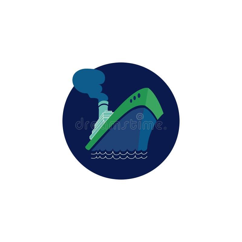 Symbol för kryssningskepp royaltyfri illustrationer