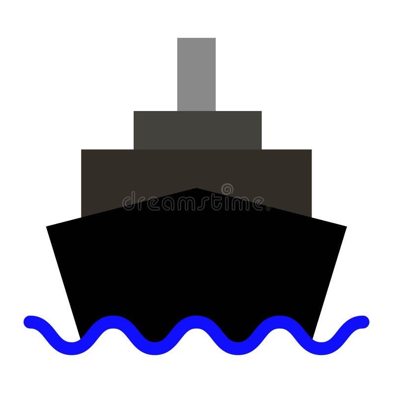 Symbol för kryssningskepp eller logoillustration stock illustrationer