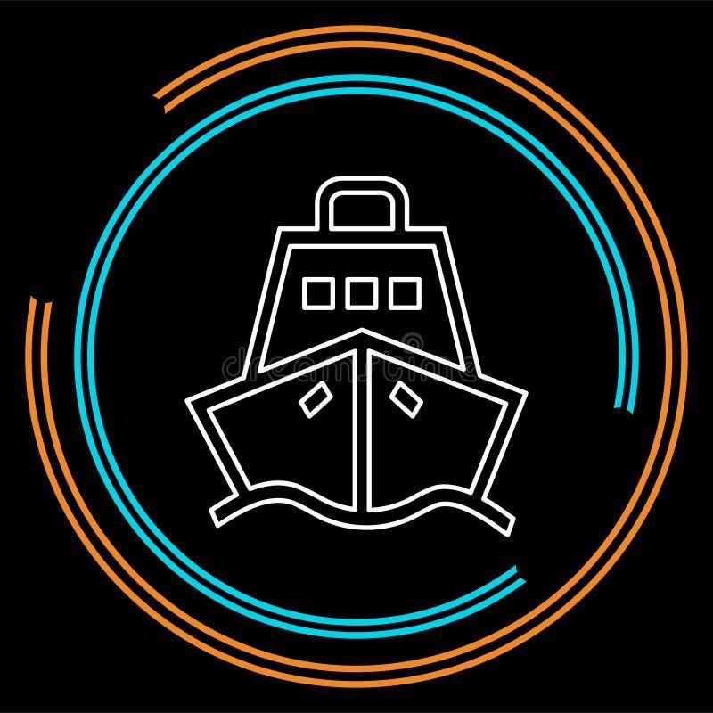 Symbol för kryssningskepp - vektorfartyg - symbol för havslopp royaltyfri illustrationer
