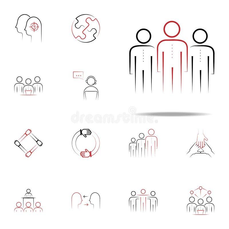 symbol för kulör hand för lagande utdragen Universell uppsättning för lagsymboler för rengöringsduk och mobil stock illustrationer