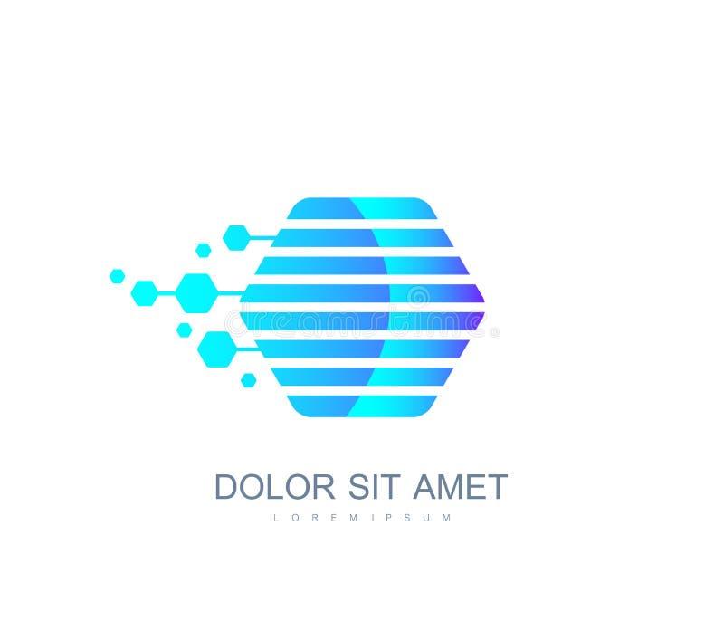 Symbol för kvarterkedja eller logobeståndsdelmall Crypto valuta Blockchain begrepp också vektor för coreldrawillustration vektor illustrationer