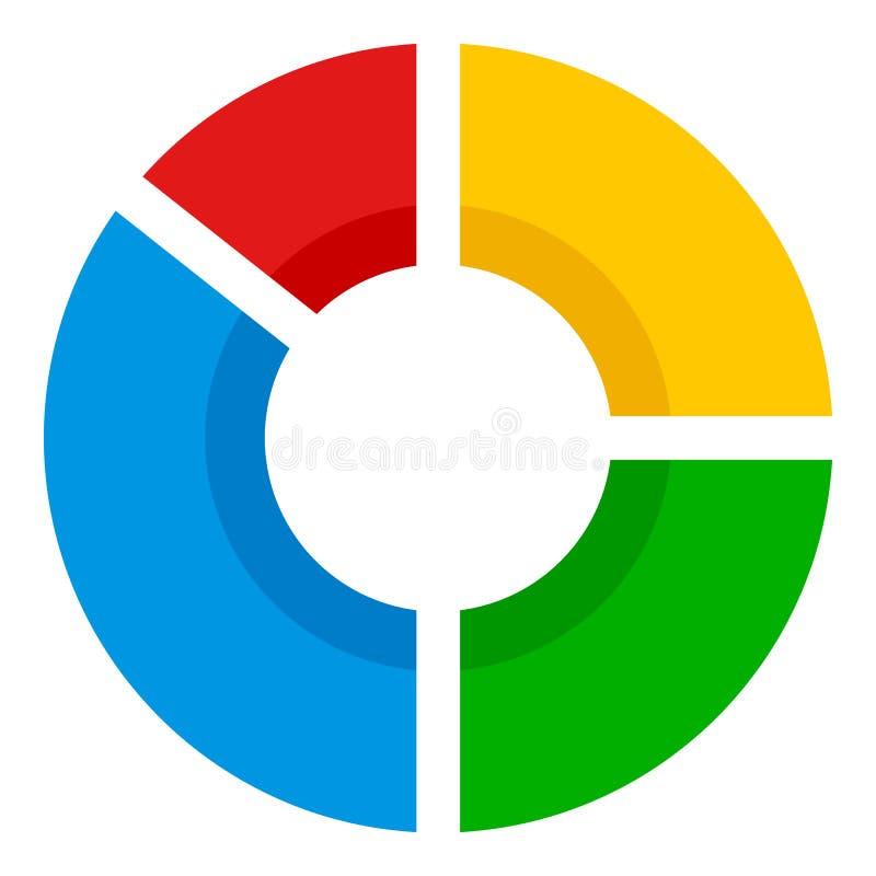 Symbol för lägenhet för begrepp för statistikanalysdiagram royaltyfri illustrationer