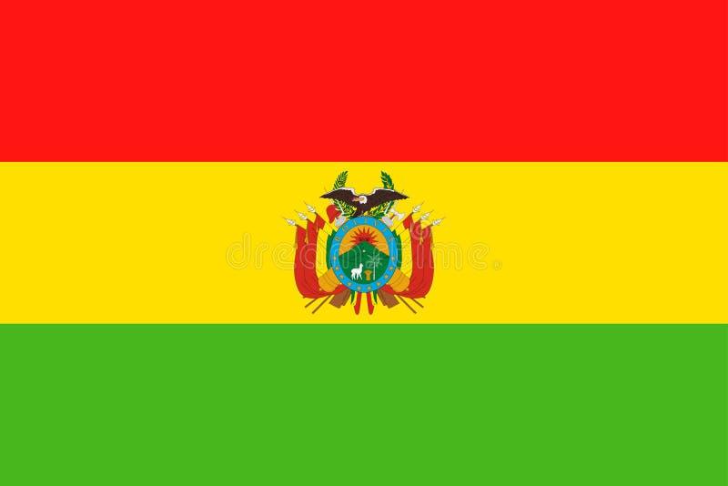 Symbol för lägenhet för Bolivia flaggavektor stock illustrationer