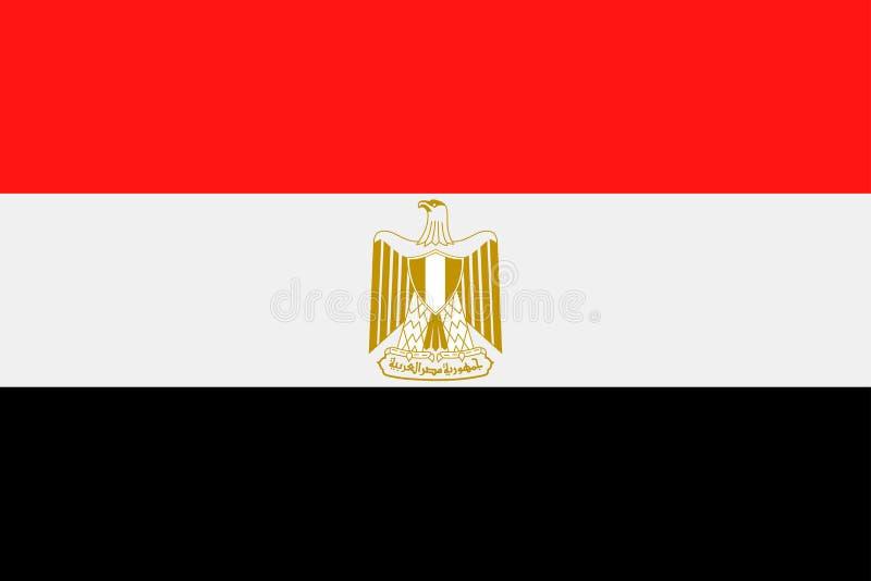 Symbol för lägenhet för Egypten flaggavektor royaltyfri illustrationer