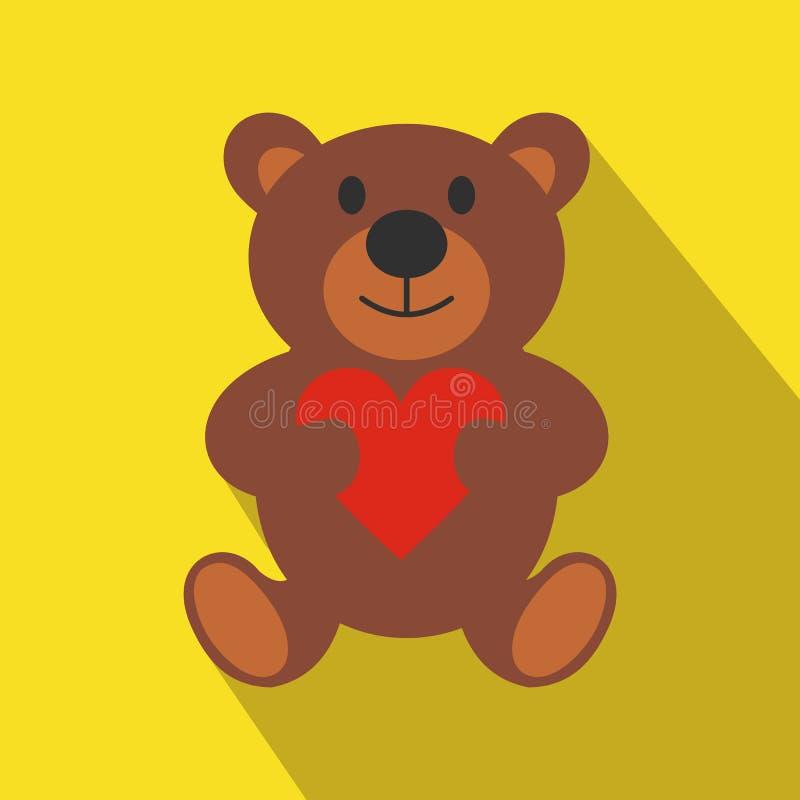Symbol för lägenhet för nallebjörn royaltyfri illustrationer