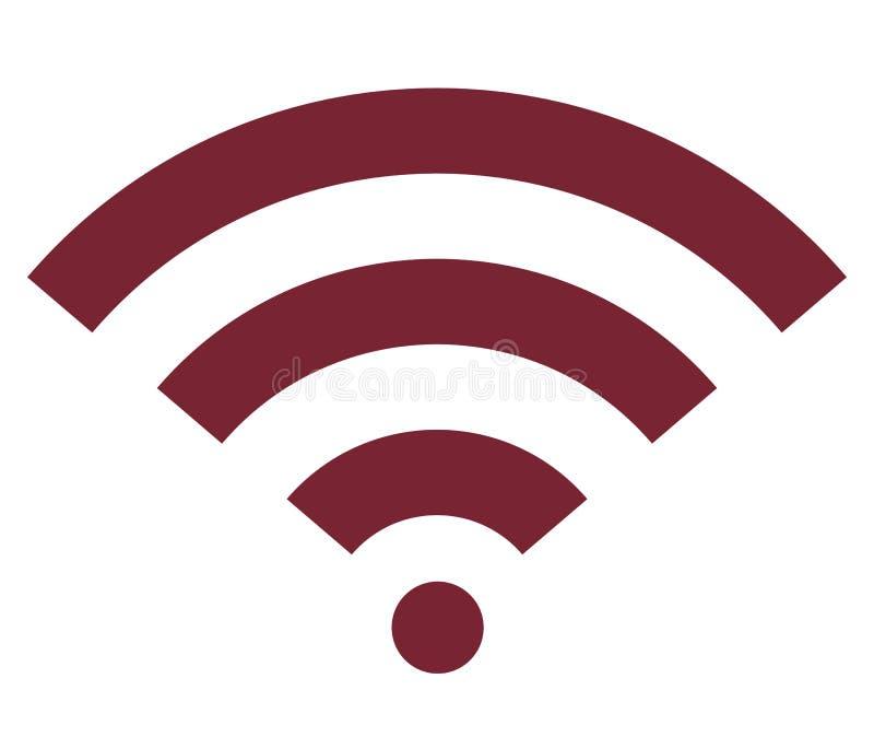 Symbol för lägenhet för Wifi trådlös internetsignal royaltyfri illustrationer