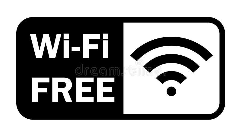 Symbol för lägenhet för Wifi trådlös internetsignal vektor illustrationer