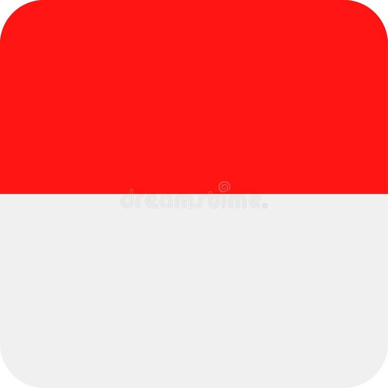 Symbol för lägenhet för fyrkant för Monaco flaggavektor royaltyfri illustrationer
