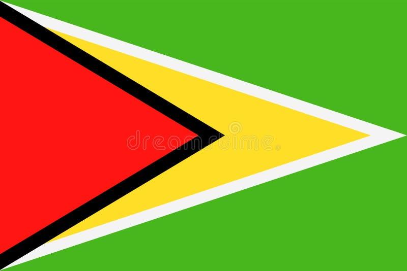Symbol för lägenhet för Guyana flaggavektor vektor illustrationer