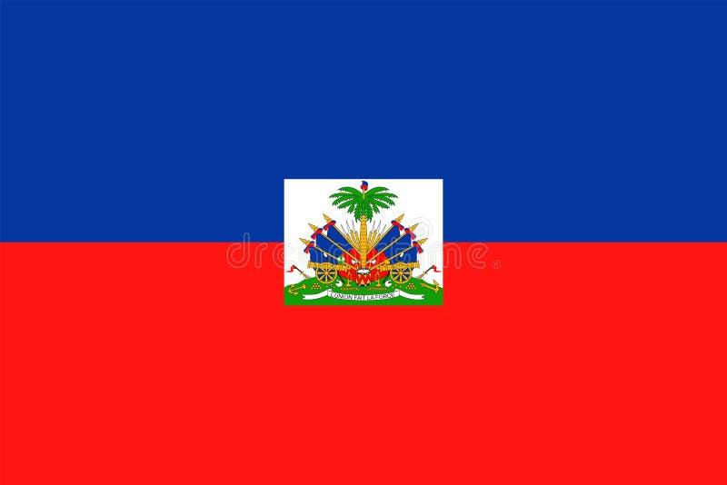 Symbol för lägenhet för Haiti flaggavektor vektor illustrationer