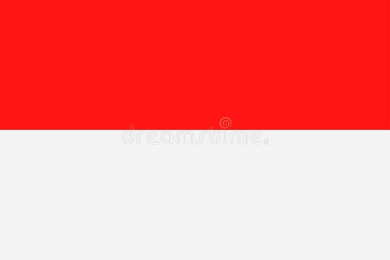 Symbol för lägenhet för Indonesien flaggavektor stock illustrationer