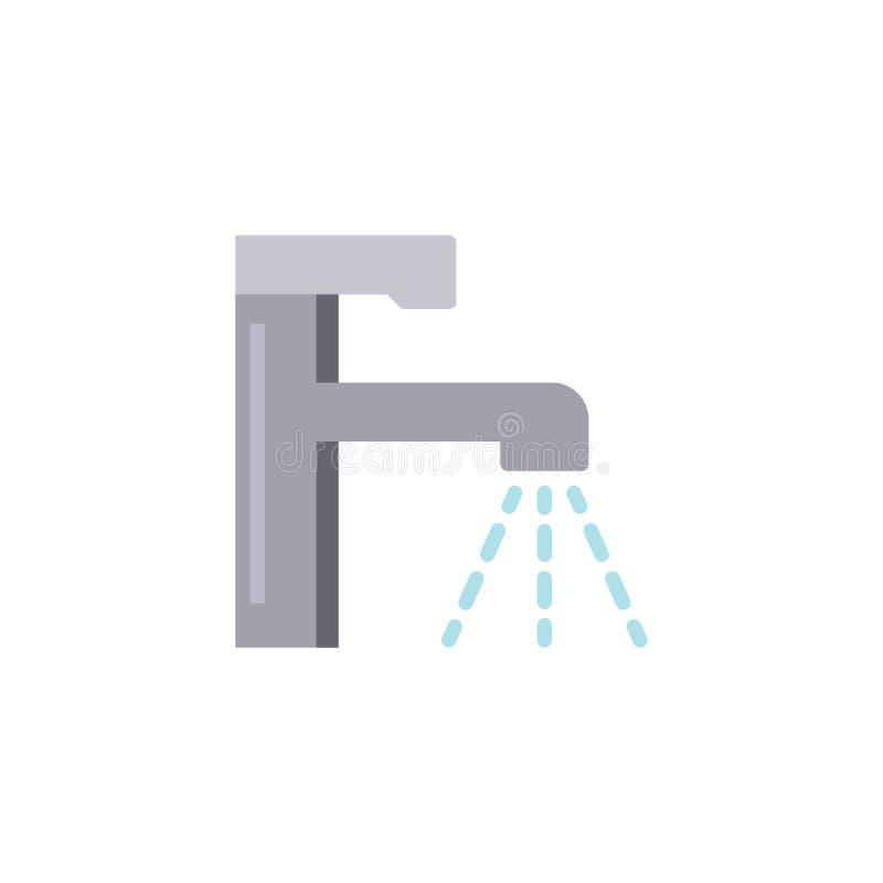 Symbol för lägenhet för vattenklapp stock illustrationer