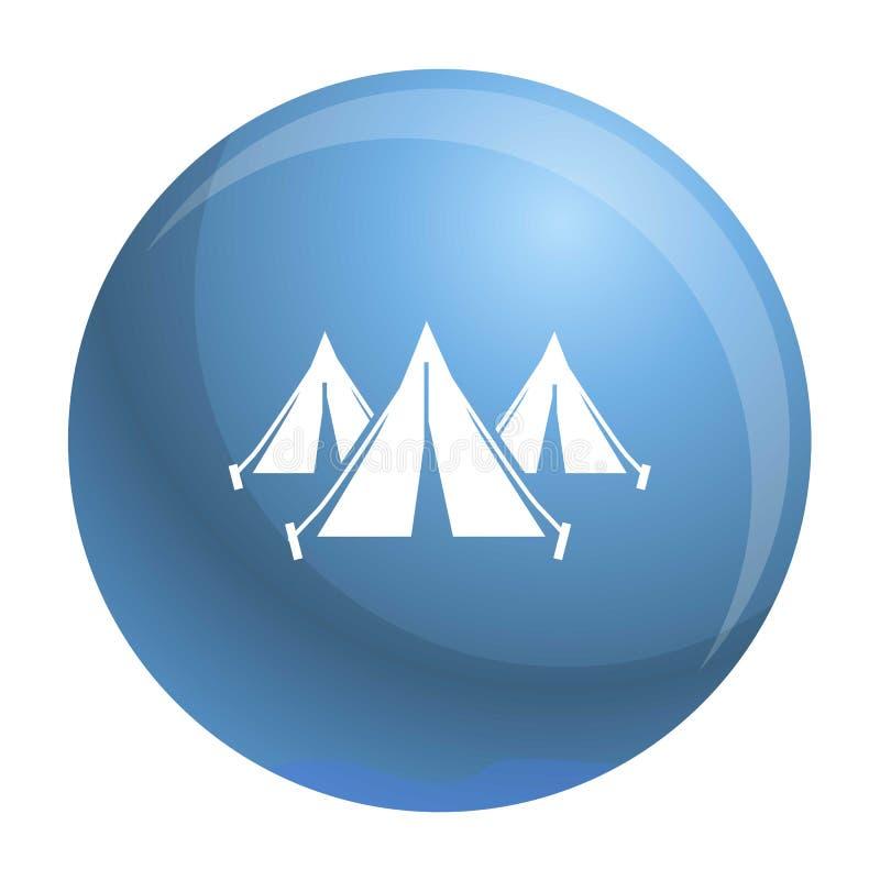 Symbol för läger för flyktingfolktält, enkel stil royaltyfri illustrationer