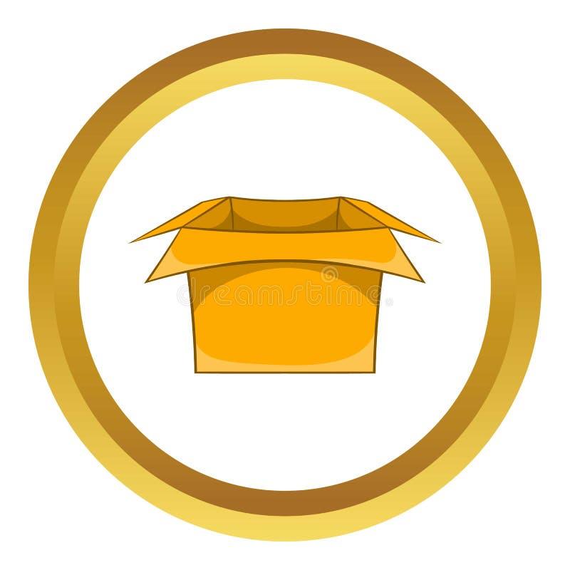 Symbol för lådaaskvektor stock illustrationer
