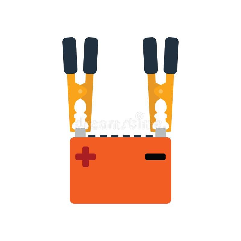 Symbol för laddning för bilbatteri vektor illustrationer