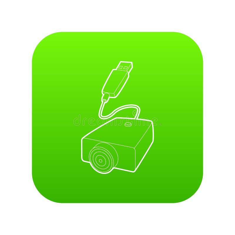 symbol för laddning för E-cigarett USB kabel, översiktsstil stock illustrationer