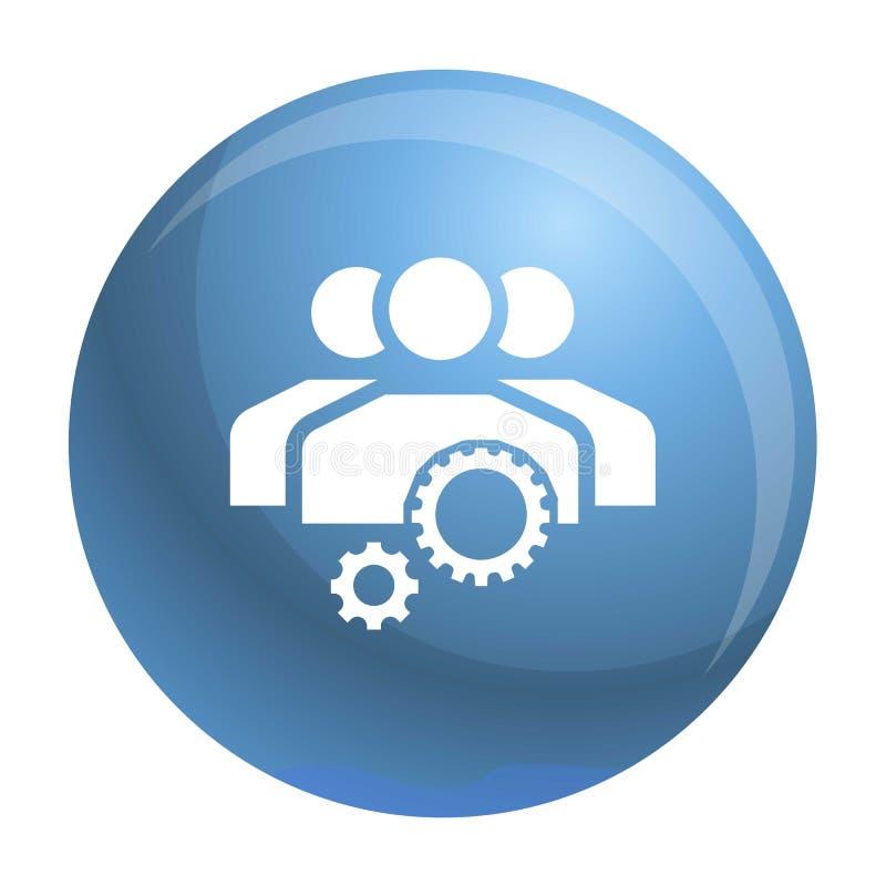 Symbol för lagarbetskugghjul, enkel stil vektor illustrationer