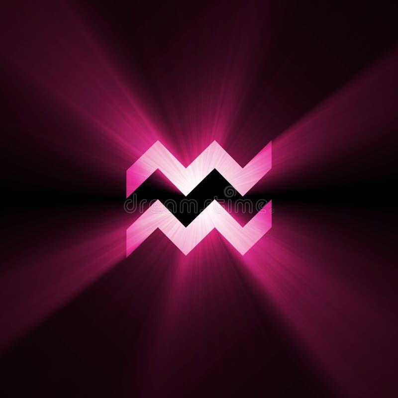 symbol för lampa för aquariusastrologisignalljus royaltyfri illustrationer