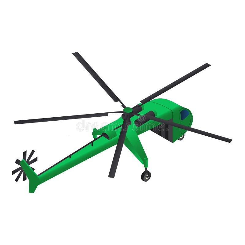Symbol för lasthelikopter, isometrisk stil stock illustrationer