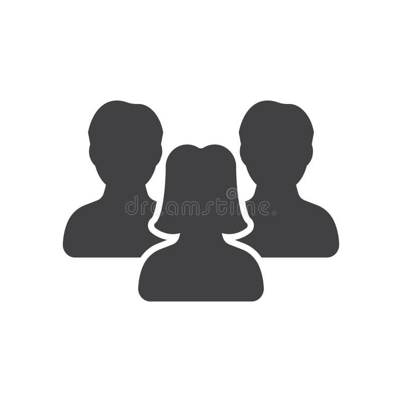 Symbol för ledarskap för kvinna` s, folksymbolsvektor, vektor illustrationer