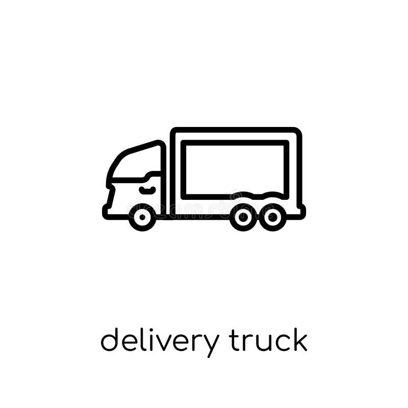 Symbol för leveranslastbil från leverans och logistisk samling royaltyfri illustrationer
