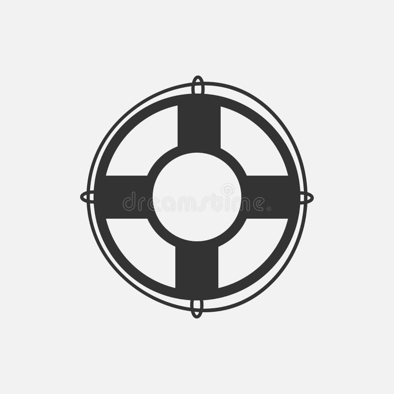 Symbol för livboj, strand, simbassäng royaltyfri illustrationer