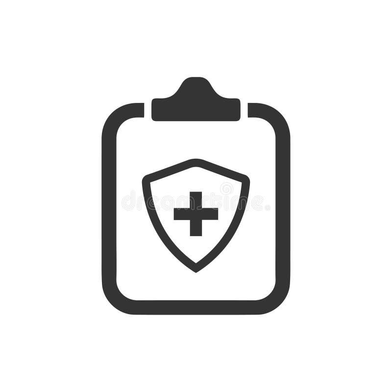 Symbol för livförsäkringpolitik stock illustrationer