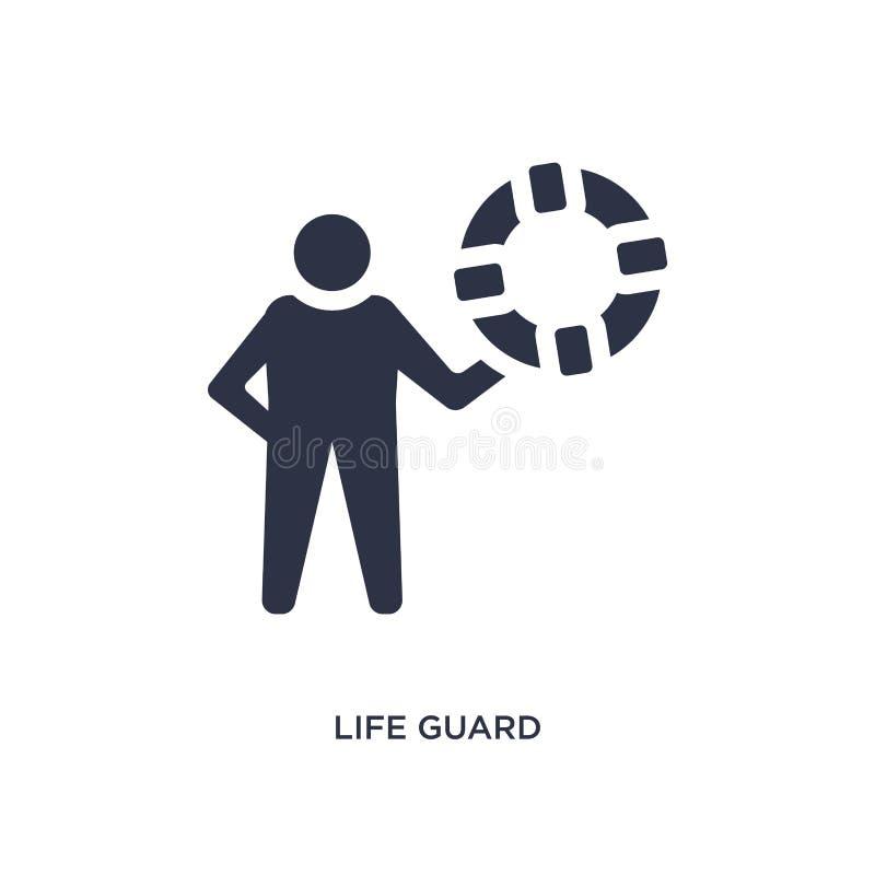 symbol för livvakt på vit bakgrund Enkel beståndsdelillustration från sommarbegrepp stock illustrationer