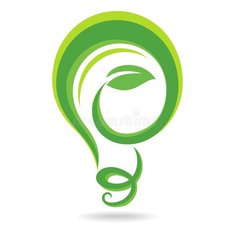 Symbol för ljus kula stock illustrationer