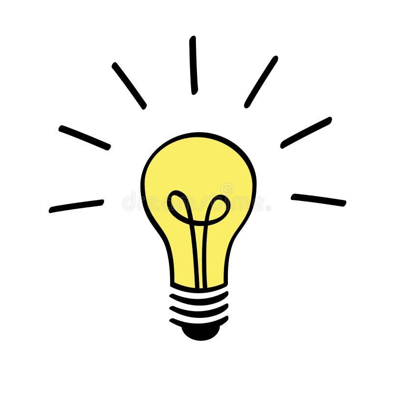 Symbol för ljus kula royaltyfri illustrationer